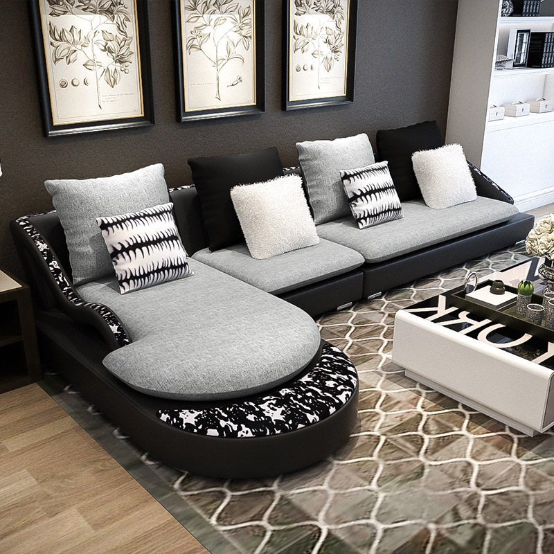 Ai Yimei children's personality Nordic sofa combination small apartment simple modern fabric sofa living room fashion le